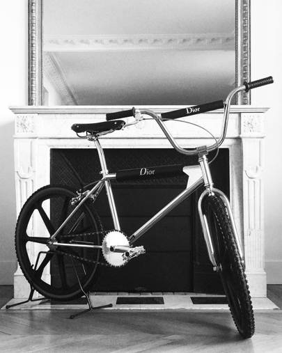 He looked to youth – and debuted a Dior Homme BMX bike