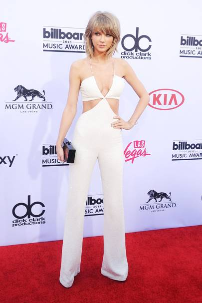 3f54b6be249e Taylor Swift White Balmain Jumpsuit Copied By Nastygal