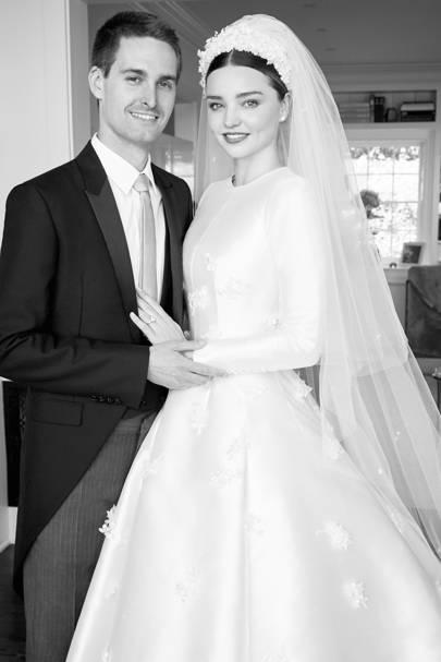 Miranda Kerr Wedding Dress Dior Haute Couture