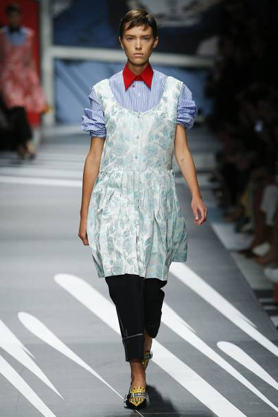 3. Prada's pretty dress plus pinstripes and pants