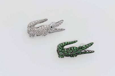 Boucheron's emerald and diamomd brooches