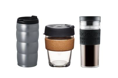 Bring your own travel mug with you when you're on the go