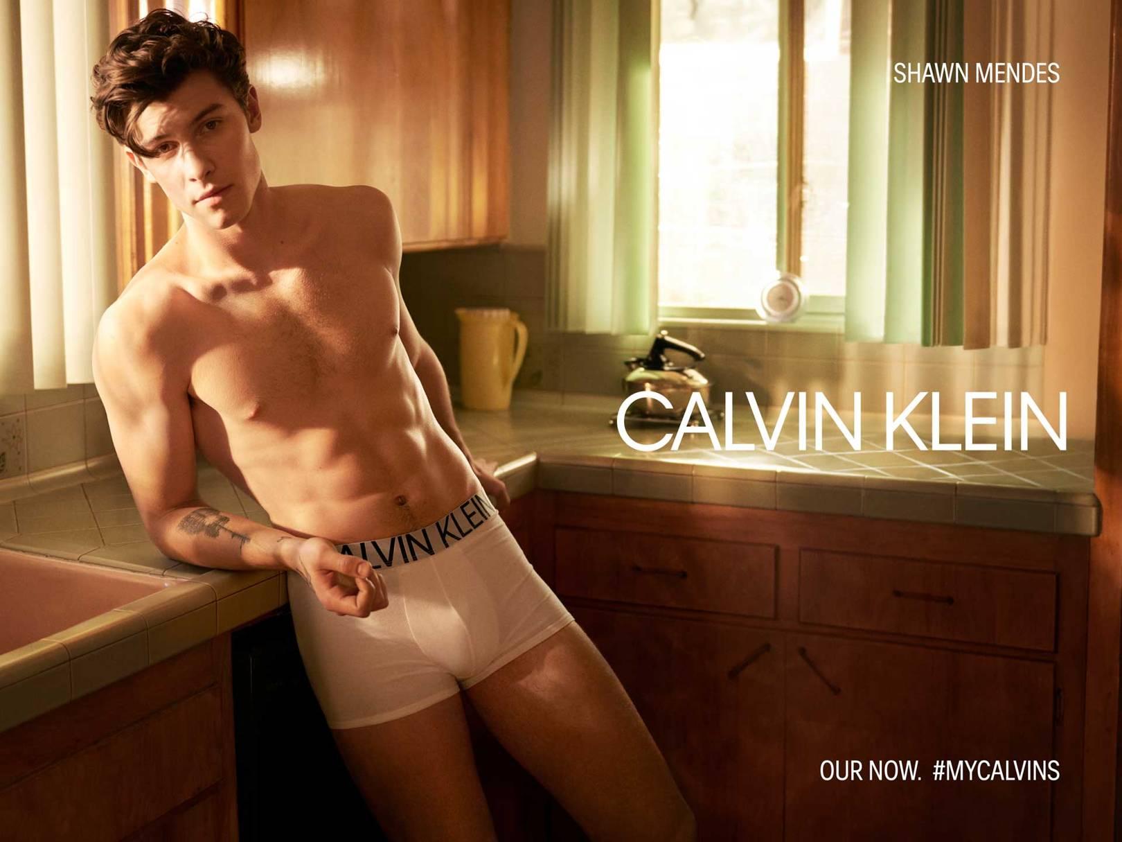 "b56067355a70 Shawn Mendes Was ""Nervous"" To Pose In His Underwear For Calvin Klein |  British Vogue"