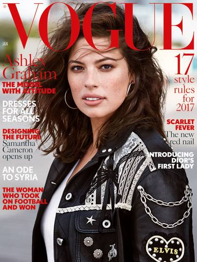 Justin Ervin's wife Ashley Graham on the cover of Vogue