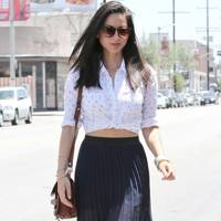 Olivia Munn Wearing A Rails Shirt