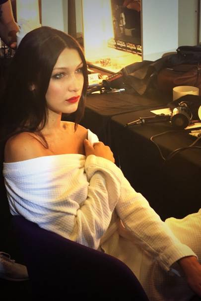 Bella Hadid's glamour at Topshop Unique