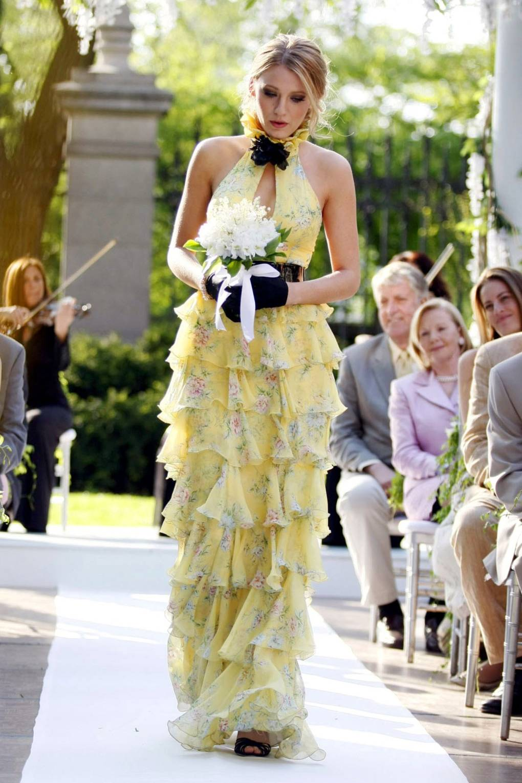 Serena vanderwoodsen yellow dress