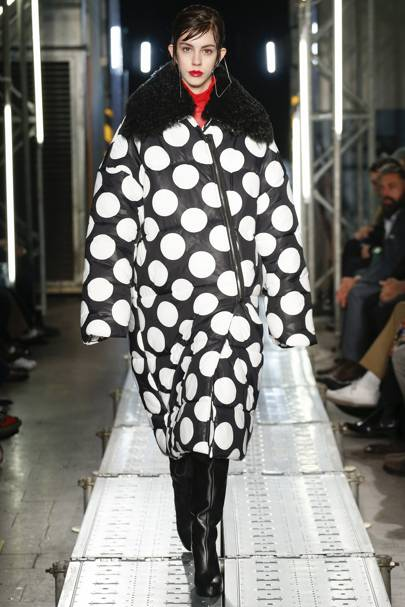 Image result for black and white polka dots ss18 catwalk