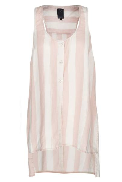 Pink striped linen shirt, £35