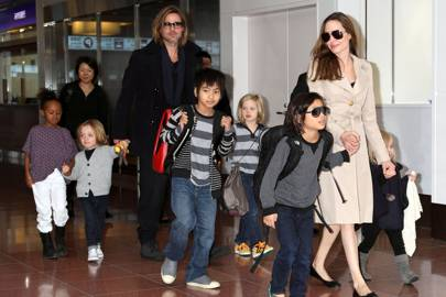 Brad and Angelina with their six children