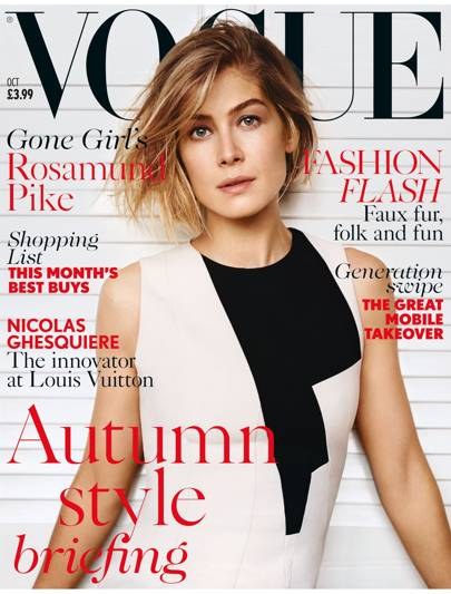 Vogue cover, October 2014