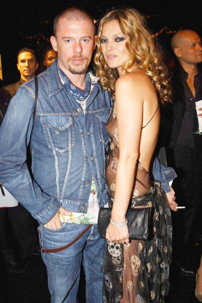 McQueen and Kate Moss made their way up fashion's ladder at the same time and became fast friends. The supermodel is said to have been a bridesmaid when the designer was rumoured to have married documentary maker George Forsyth in Ibiza in 2000.   Here, the pair are shown at a charity auction hosted by McQueen in 2004.
