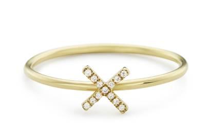 Loquet London Diamond Kiss Puzzle Ring, £290