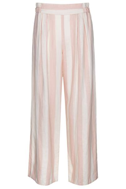 Pink striped linen trousers, £45