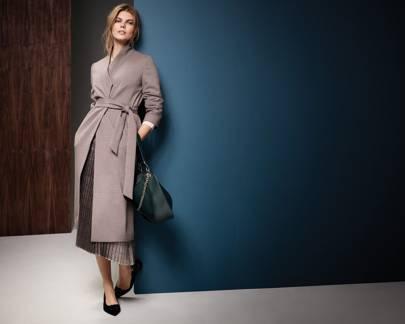 5b1675a6ede6 Autograph Coat £99, M&S Collection Jumper £75, Per Una Skirt £45, Bag £35,  Shoes £35
