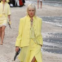 Essential beach attire? A tweed sarong