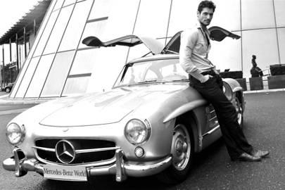 David gandy blog mercedes benz car london olympics british vogue - Mercedes benz garage london ...