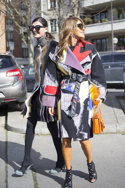 Giovanna Battaglia and Anna Dello Russo, fashion editors