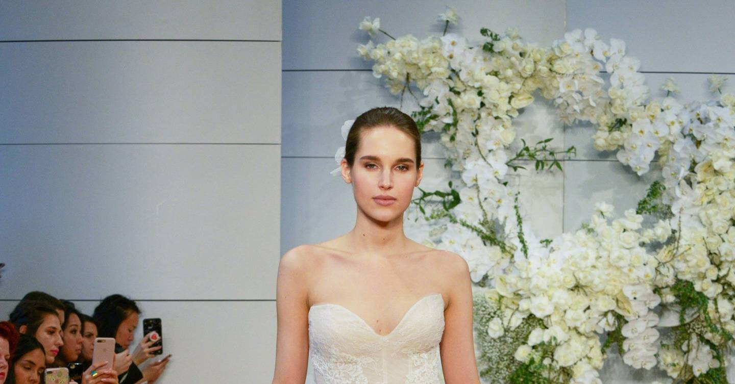 Monique Lhuillier Springsummer 2018 Bridal Show Report British Vogue