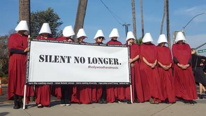 The Hollywood Handmaids staged their own protest off the red carpet
