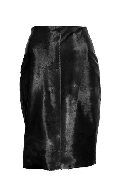 Pony-skin skirt, £465, Moka