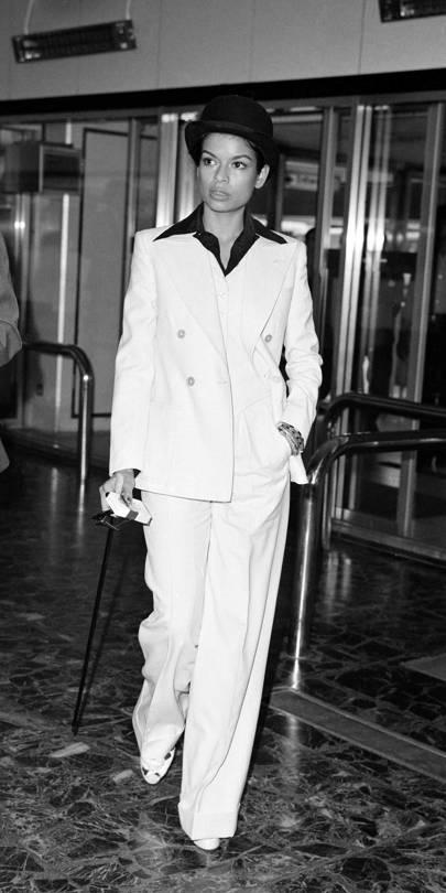 Bianca Jagger Still Wears A Tux Better Than Anyone Else