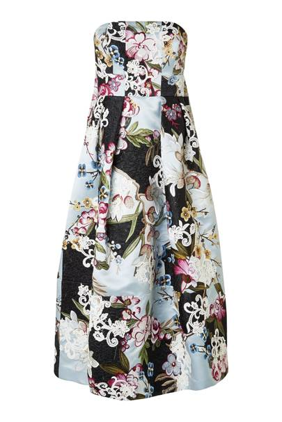 "Close-up of Erdem's ""Alina"" dress with collage embroidery"