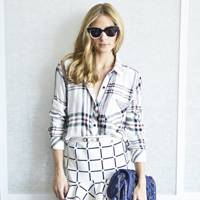 Olivia Palermo Wearing A Rails Shirt