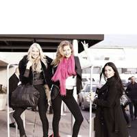 Elsa Hosk, Doutzen Kroes and Adriana Lima land in London