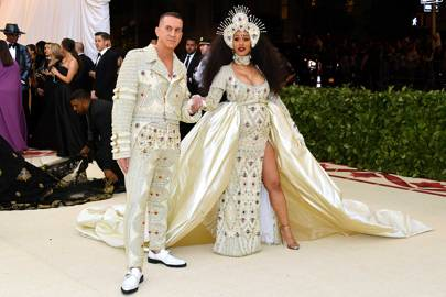 Jeremy Scott and Cardi B