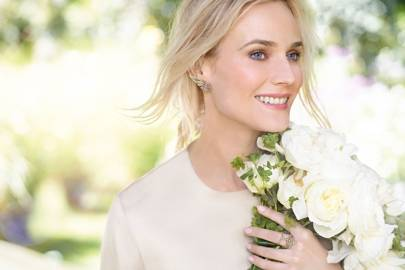 Diane Kruger wearing a ring and earrings from the H Stern Rock Season Collection.