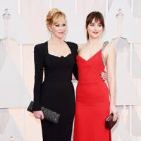 Melanie Griffiths and Dakota Johnson
