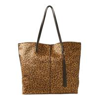 Marks & Spencer animal-print shopper bag