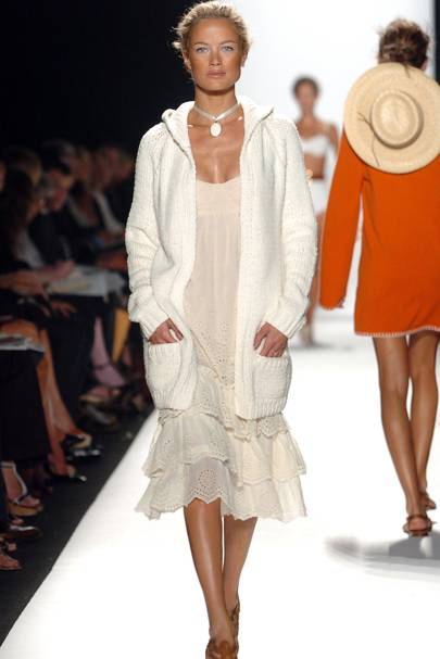 On the catwalk for Michael Kors in 2005