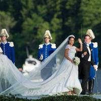 Princess Madeleine and Chris O'Neill following the wedding