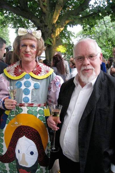 vogue blog virginia bates serpentine party peter blake grayson perry