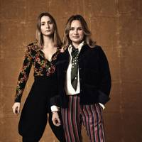 Penelope Chilvers, fashion designer, pictured with her stylist daughter, Gemma