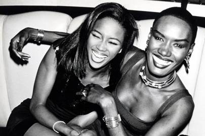 Naomi Campbell with Grace Jones