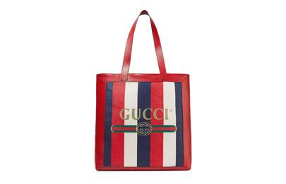 Gucci striped canvas shopper