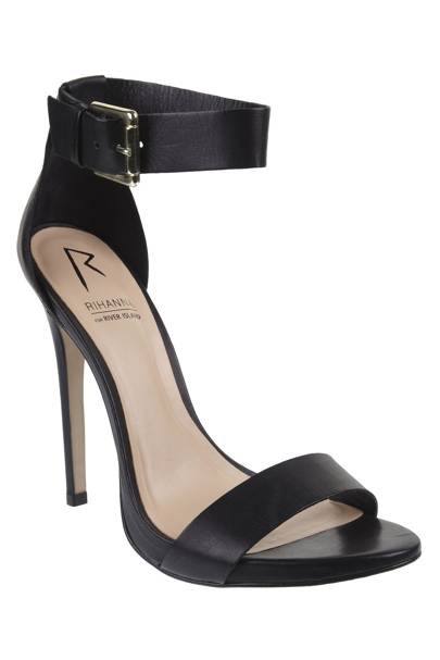 Black ankle strap stiletto, £80