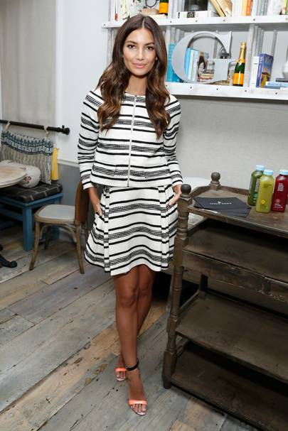 Lily Aldridge's Refresh Collection for Gilt and BluePrint Juice, New York - October 14 2014