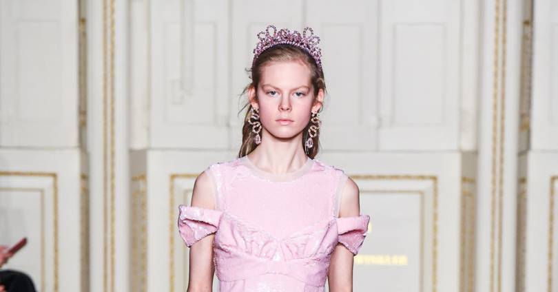 The Party Dress Is Back On The Catwalk - And It's Best Worn In Pink
