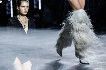 5c0bd27321b Naomi Campbell And Rihanna Wear Saint Laurent's Yeti Boots First ...