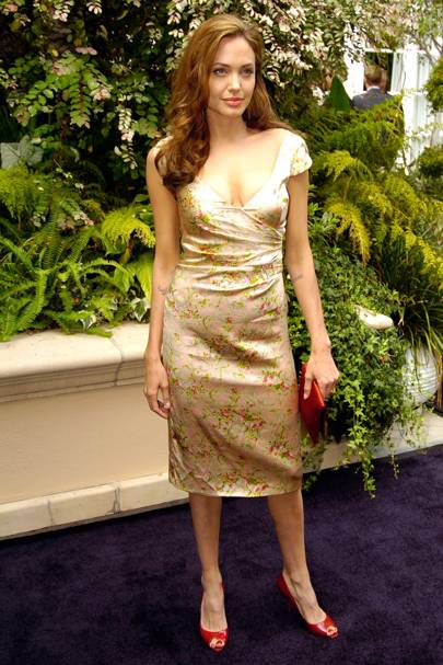 cf4dec6fb Angelina Jolie choses Collette Dinnigan for the 11th Annual Premiere Women  In Hollywood lunch