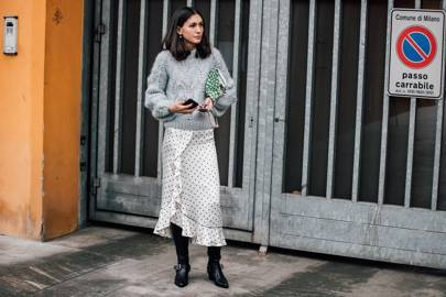 Get ahead of the white polka dot trend