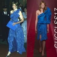 2. The cobalt one-shoulder gown