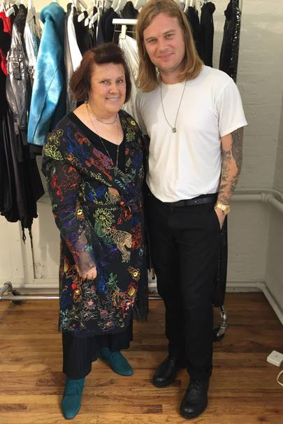 Suzy Menkes with Matthew Williams