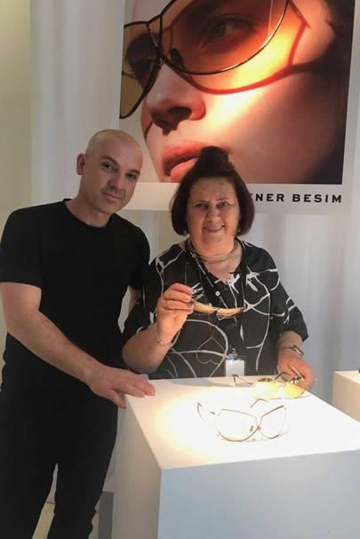 Suzy with Australian eyewear designer Senem Besir