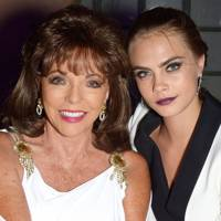 Joan Collins and Cara Delevingne