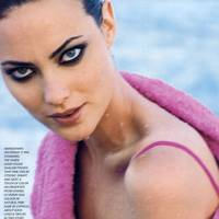 Shalom Harlow, photographed by Herb Ritts for US Vogue, 1995